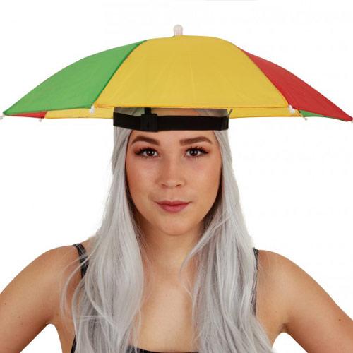 Hoofd paraplu rood-groen-geel