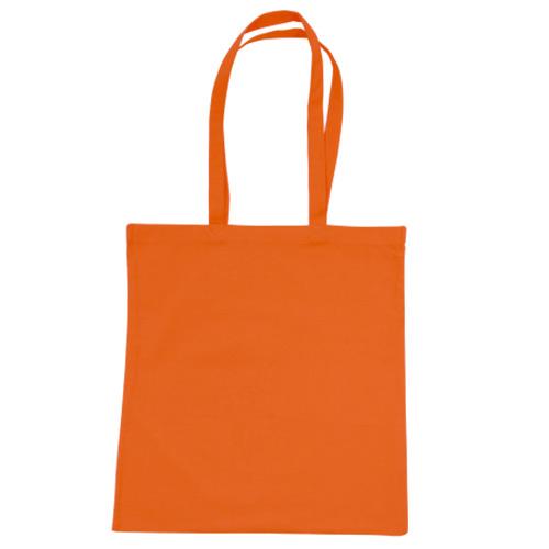 Katoenen draagtas oranje