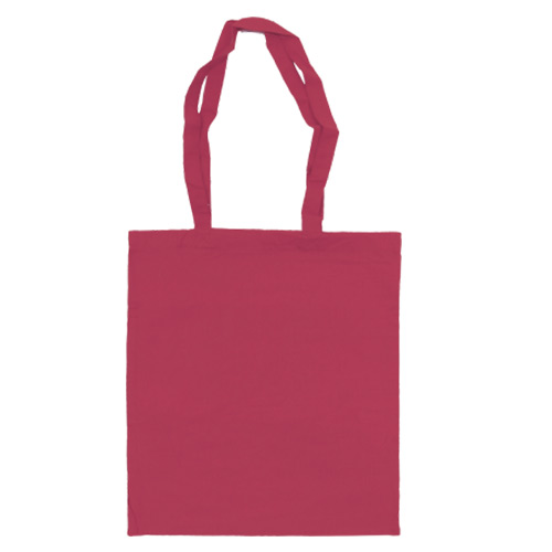 Katoenen draagtas roze
