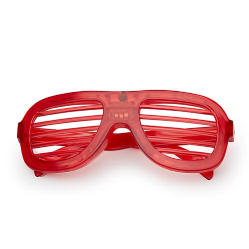 LED shutter bril rood
