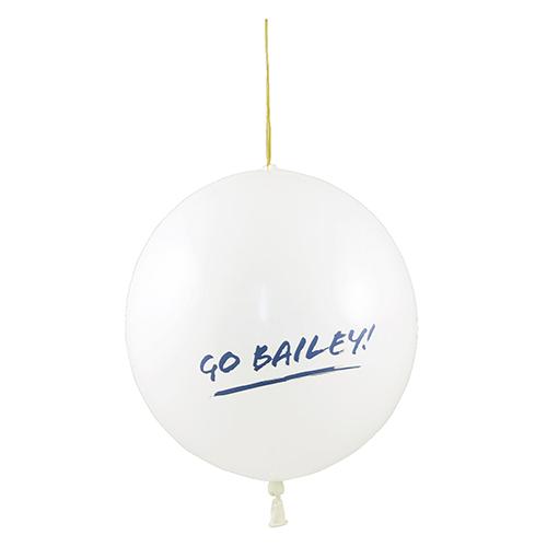 Punch ballon wit
