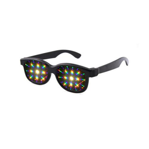 Plastic diffractie 3d bril