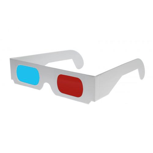 Kartonnen anaglyph 3d bril