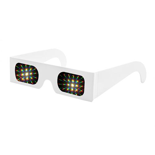 Kartonnen diffractie 3d bril