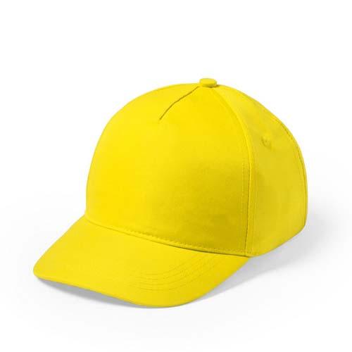 Baseball cap 5 panel budget bedrukken geel
