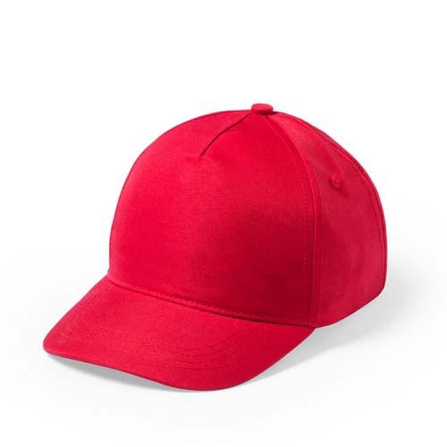 Baseball cap 5 panel budget bedrukken rood