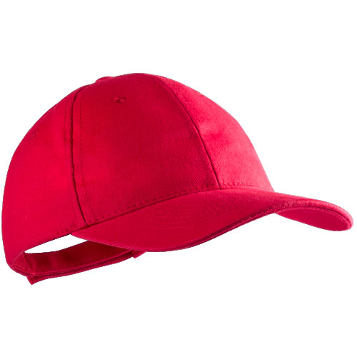 Baseball cap 6 panel bedrukken rood