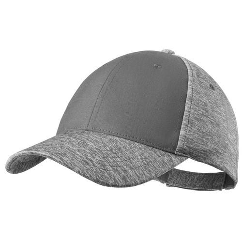 Baseball cap tweekleurig 6 panel bedrukken grijs