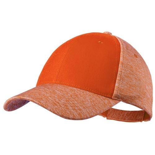 Baseball cap tweekleurig 6 panel bedrukken oranje