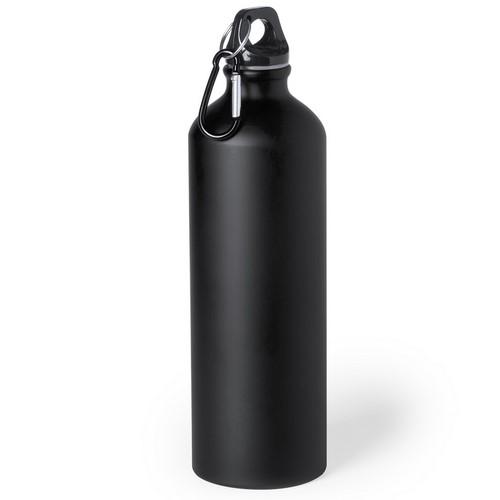 Bidon 800ml met karabijnhaak bedrukken zwart
