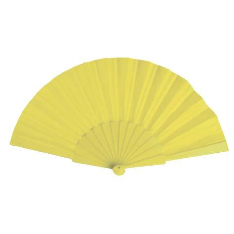Budget waaier bedrukken geel