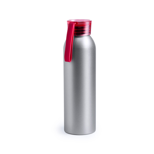 Drinkfles aluminium 650ml bedrukken rood