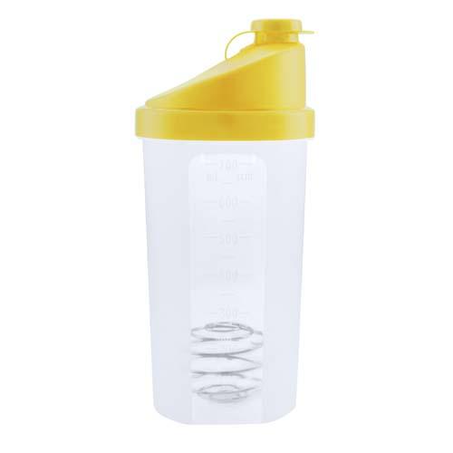 Fitness drinkbeker 700ml bedrukken geel