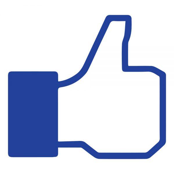 Foam hand Facebook duim