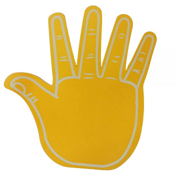 Foam hand High five oranje