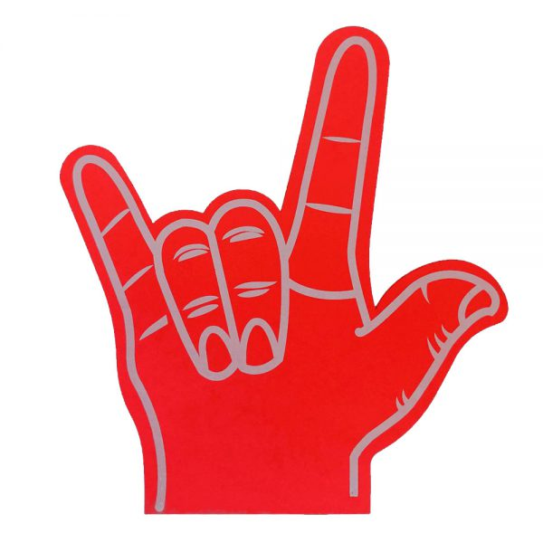 Foam hand rock rood