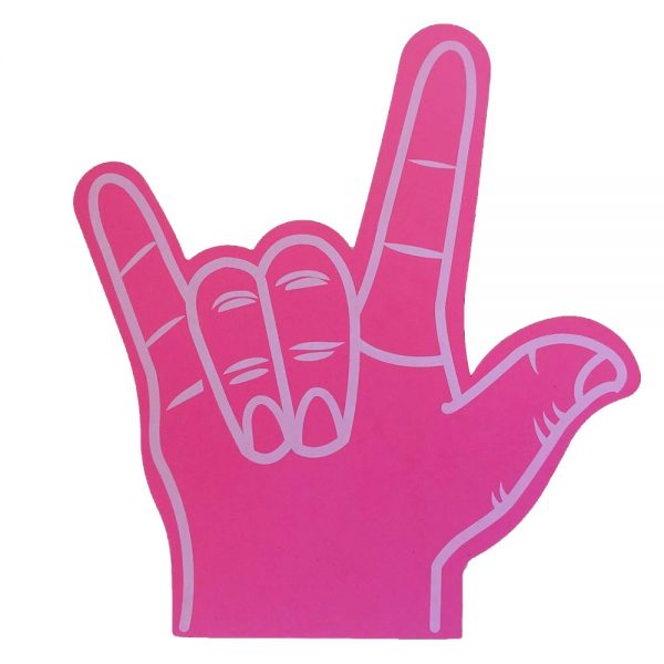 Foam hand rock roze