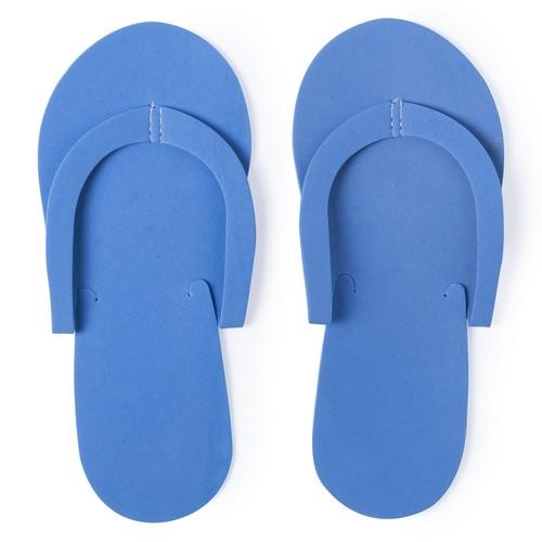 Goedkope wegwerp slippers bedrukken blauw