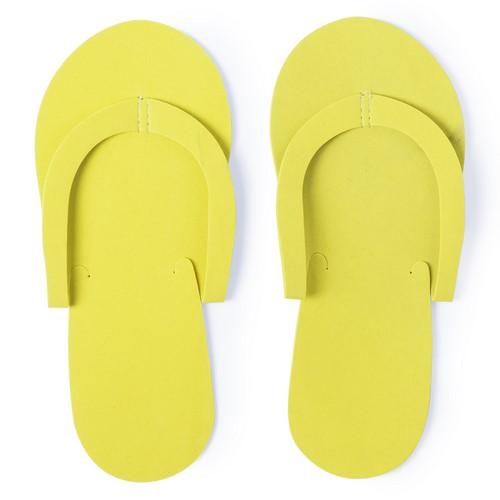 Goedkope wegwerp slippers bedrukken geel