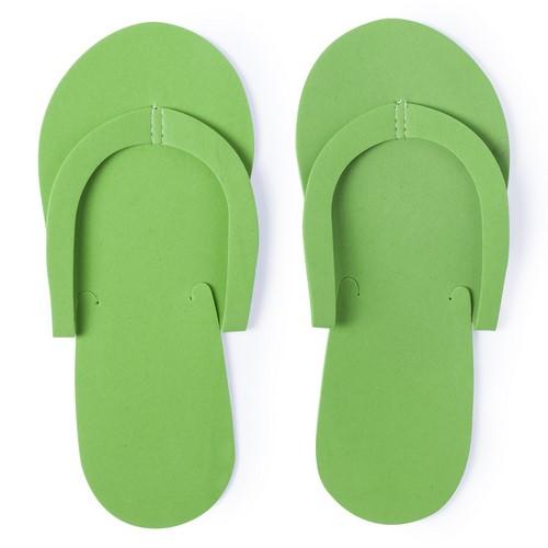 Goedkope wegwerp slippers bedrukken groen