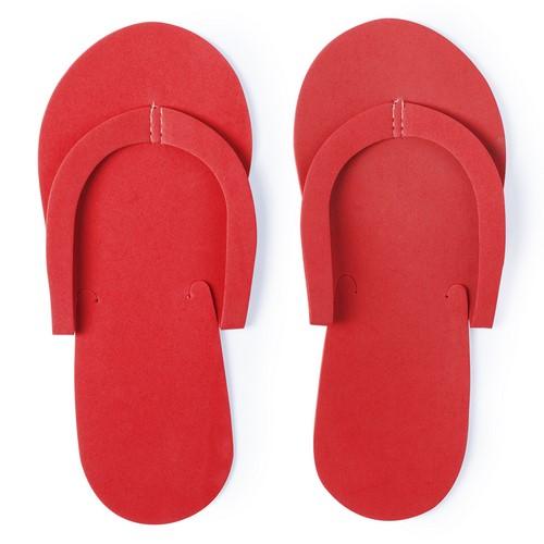 Goedkope wegwerp slippers bedrukken rood