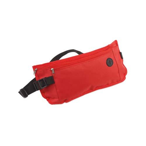 Heuptasje met vakken bedrukken rood