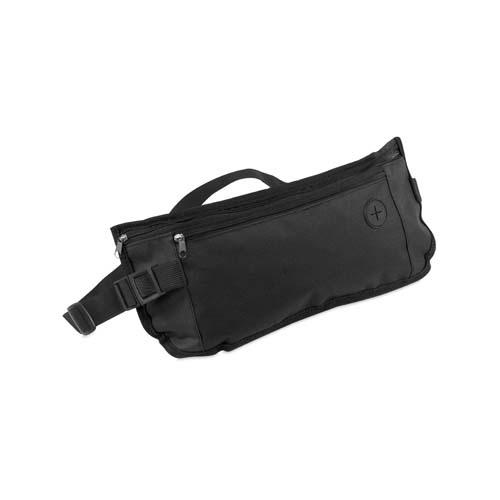 Heuptasje met vakken bedrukken zwart