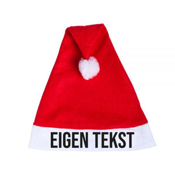 Kerstmutsen bedrukken rood eigen tekst