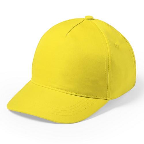 Kindercap 5 panel bedrukken geel