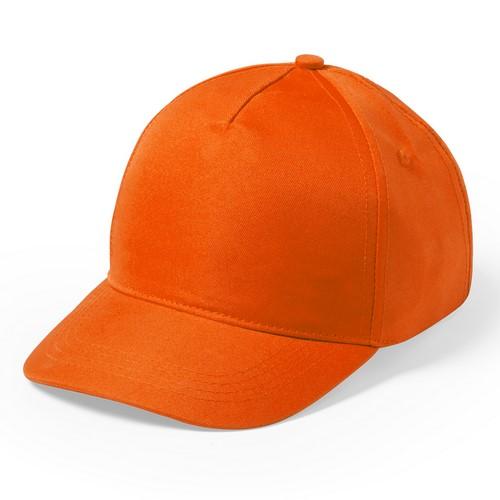 Kindercap 5 panel bedrukken oranje