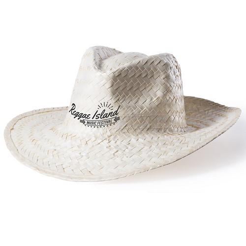 Mexicaanse hoed met deuk bedrukken naturel