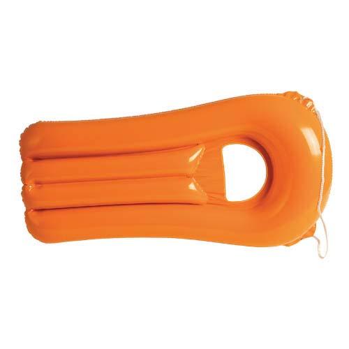 Opblaasbaar-luchtbed met venster bedrukken oranje