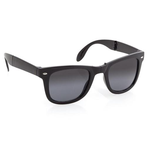 Opvouw zonnebril bedrukken zwart