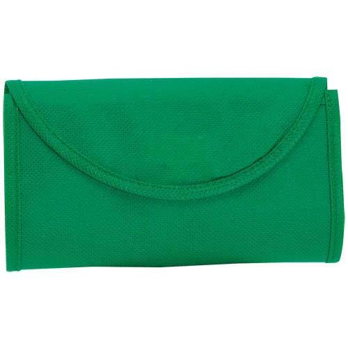 Opvouwbare tas korte hengels bedrukken groen