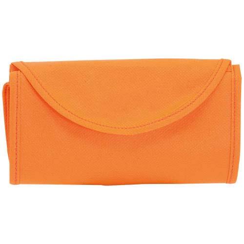 Opvouwbare tas korte hengels bedrukken oranje