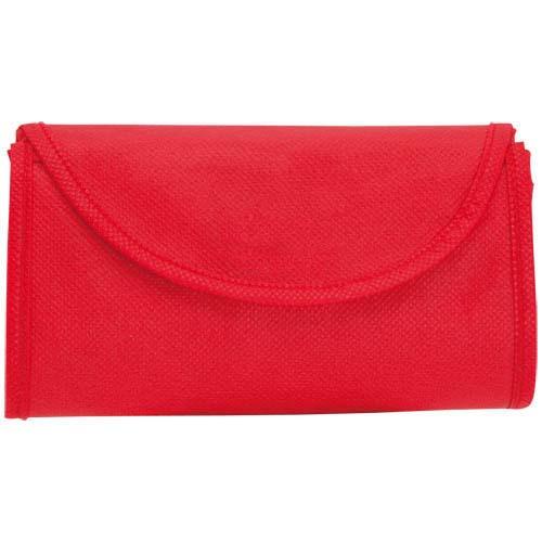Opvouwbare tas korte hengels bedrukken rood