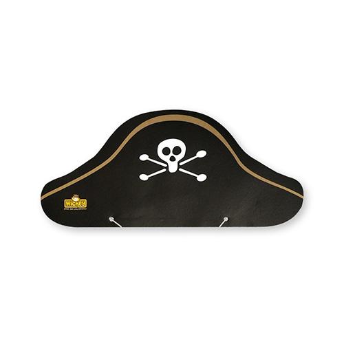 Papieren hoedjes met bedrukking piratenmuts