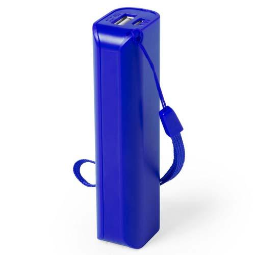 Powerbank budget 1200mah bedrukken blauw
