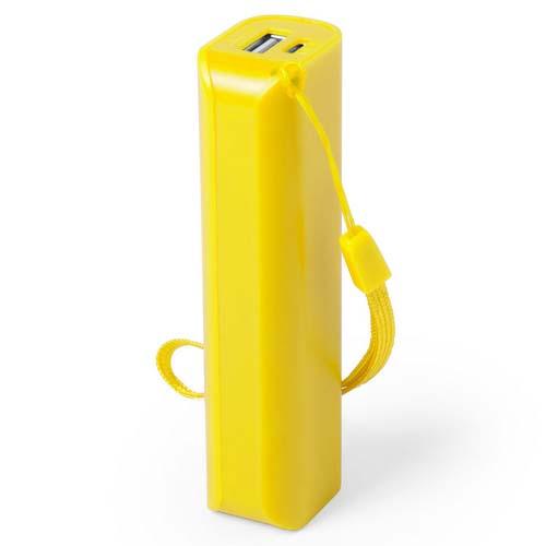 Powerbank budget 1200mah bedrukken geel