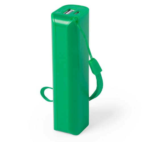 Powerbank budget 1200mah bedrukken groen