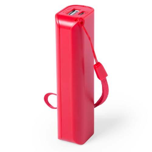 Powerbank budget 1200mah bedrukken rood