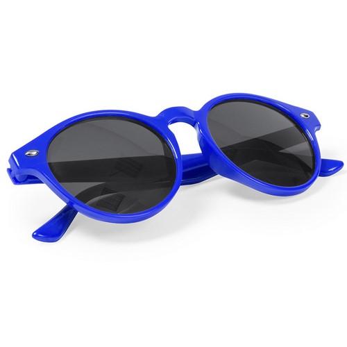 Ronde zonnebril met logo blauw