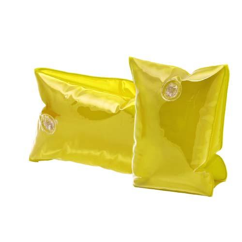 Set opblaasbare zwembanden bedrukken transparant geel