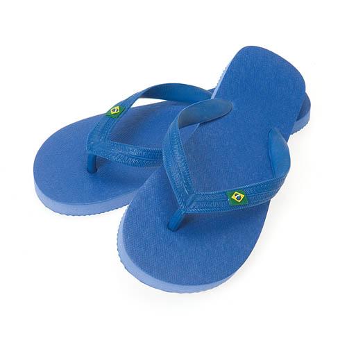 Slippers Brasil bedrukken blauw