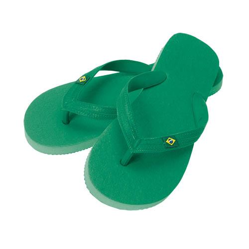 Slippers Brasil bedrukken groen