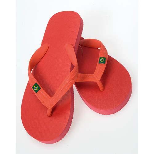 Slippers Brasil bedrukken rood