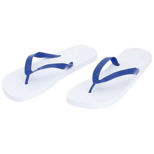 Slippers met PVC bandjes bedrukken wit blauw