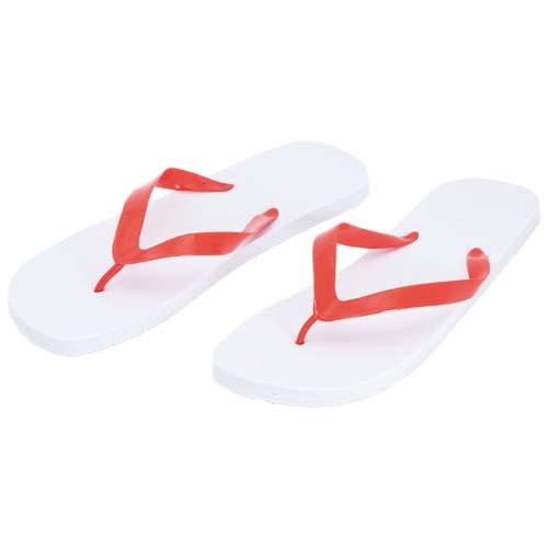 Slippers met PVC bandjes bedrukken wit rood