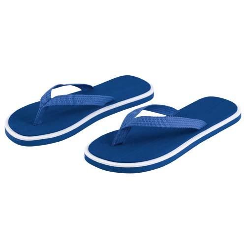 Slippers met dikke zolen bedrukken blauw