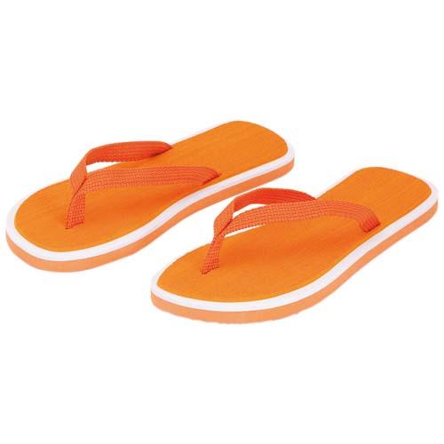 Slippers met dikke zolen bedrukken oranje